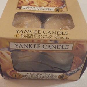 Yankee Candle Almond Cookie Tea Lights Set of 12